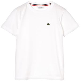 Textil Rapaz T-Shirt mangas curtas Lacoste NAE Branco