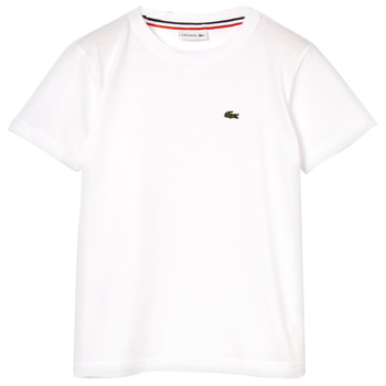 Textil Rapaz T-Shirt mangas curtas Lacoste APAULINE Branco