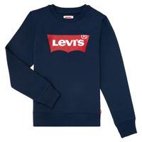 Textil Rapaz Sweats Levi's BATWING CREWNECK Marinho