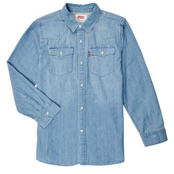 Textil Rapaz Camisas mangas comprida Levi's BARSTOW WESTERN SHIRT Azul