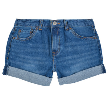 Textil Rapariga Shorts / Bermudas Levi's GIRLFRIEND SHORTY SHORT Azul
