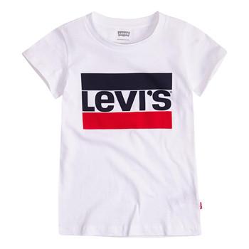Textil Rapariga T-Shirt mangas curtas Levi's SPORTSWEAR LOGO TEE Branco