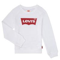 Textil Rapariga Sweats Levi's KEY ITEM LOGO CREW Branco