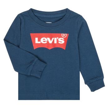 Textil Rapaz T-shirt mangas compridas Levi's BATWING TEE LS Marinho