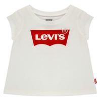 Textil Rapariga T-Shirt mangas curtas Levi's BATWING TEE Branco