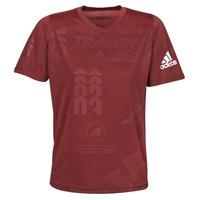 Textil Homem T-Shirt mangas curtas adidas Performance DAILY PRESS TEE Vermelho