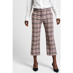 Textil Mulher Calças Gant CALÇAS SLIM SLOUCH Multicolor