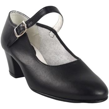 Sapatos Rapariga Sabrinas Bienve Sapatos de flamenco menina - Cor Preto Noir
