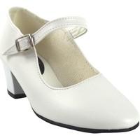 Sapatos Rapariga Sabrinas Bienve Sapato menina boas-vindas, flamenga-correia branco Blanc
