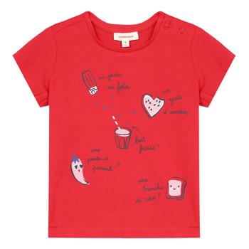 Textil Rapariga T-Shirt mangas curtas Catimini MUSIKOU Vermelho