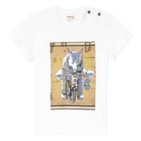 Textil Rapaz T-Shirt mangas curtas Catimini LARIBI Branco