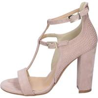 Sapatos Mulher Sandálias Olga Rubini sandali camoscio sintetico borchie Rosa