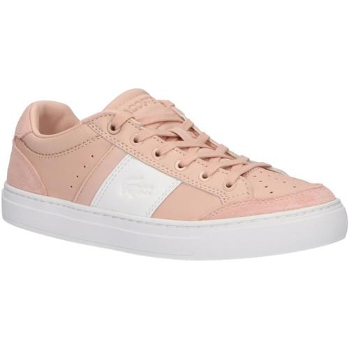 Sapatos Mulher Sapatilhas Lacoste 38CFA0050 COURTLINE Marrón