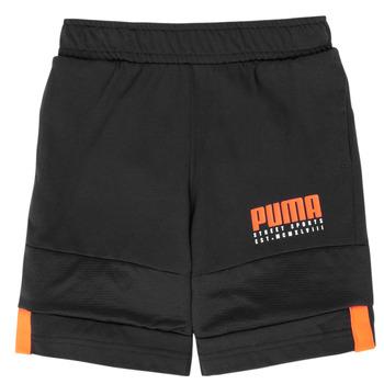 Textil Rapaz Shorts / Bermudas Puma ALPHA JERSEY SHORT Preto