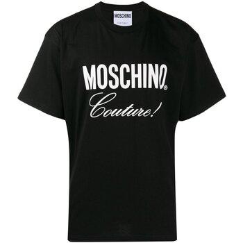 Textil Homem T-Shirt mangas curtas Moschino ZA0710 Preto