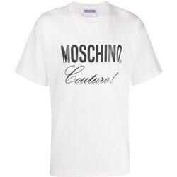 Textil Homem T-Shirt mangas curtas Moschino ZA0710 Branco