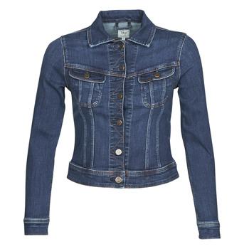 Textil Mulher casacos de ganga Lee SLIM RIDER JACKET Azul / Marinho