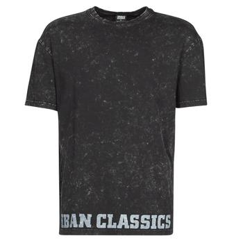 Textil Homem T-Shirt mangas curtas Urban Classics TOBI Preto