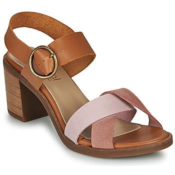 Sapatos Mulher Sandálias Casual Attitude MEL Camel / Rosa