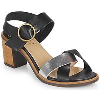 Sapatos Mulher Sandálias Casual Attitude MILLA Preto / Prateado
