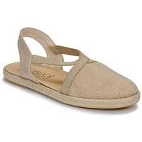 Sapatos Mulher Sandálias Casual Attitude MISSA Bege / Dourado