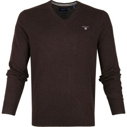 Textil Homem camisolas Gant PULOVER FINO  EM  LÃ Bege