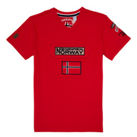 Textil Rapaz T-Shirt mangas curtas Geographical Norway JIRI Vermelho