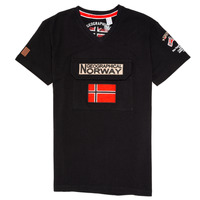 Textil Rapaz T-Shirt mangas curtas Geographical Norway JIRI Preto