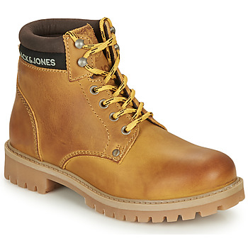 Sapatos Rapaz Botas baixas Jack & Jones JR STATTON LEATHER Mel