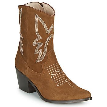 Sapatos Mulher Botins Betty London MOSSINO Camel