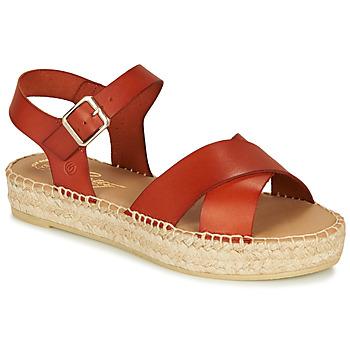 Sapatos Mulher Sandálias Betty London MIZOU Castanho