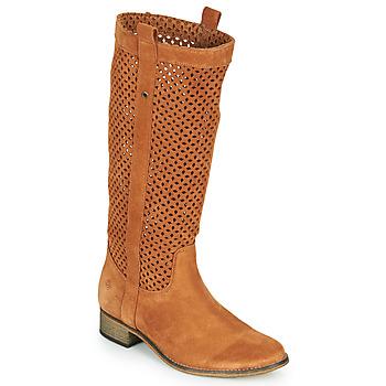 Sapatos Mulher Botas Betty London DIVOUI Conhaque