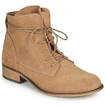 Sapatos Mulher Botas baixas Betty London MARILU Bege