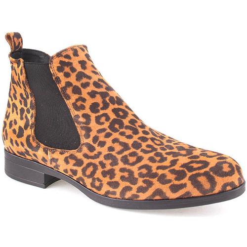 Sapatos Mulher Botins Bc L Ankle boots Lady Leopardo