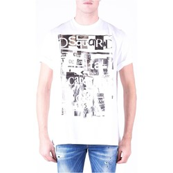 Textil Homem T-Shirt mangas curtas Dsquared S74GD0531 Branco