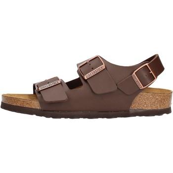 Sapatos Homem Sandálias Birkenstock - Milano marrone 034703 MARRONE