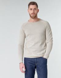 Textil Homem camisolas Jack & Jones JJEUNION Bege