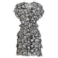 Textil Mulher Vestidos curtos Replay  Preto / Branco