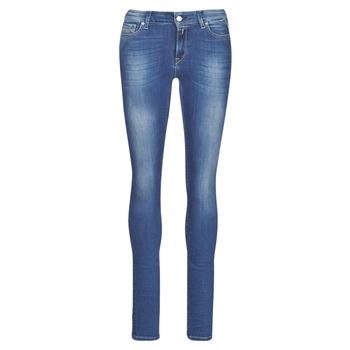 Textil Mulher Gangas Skinny Replay LUZ Azul / Escuro