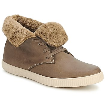 Sapatos Sapatilhas de cano-alto Victoria SAFARI ALTA PIEL TINTADA PELO Toupeira