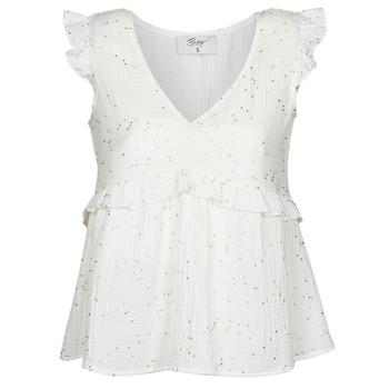 Textil Mulher Tops / Blusas Betty London MOUDINE Branco / Dourado