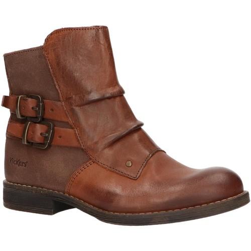Sapatos Criança Botas baixas Kickers 572701-30 SMATCHY Marrón