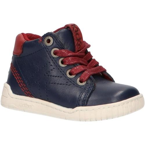 Sapatos Criança Botas baixas Kickers 736260-10 WINZ Azul