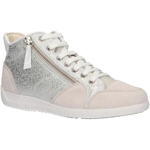 Sapatos Mulher Sapatilhas de cano-alto Geox D6468C 0KY22 D MYRIA Plateado