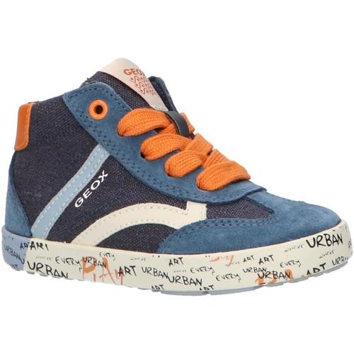 Sapatos Rapaz Sapatilhas de cano-alto Geox B92A7E 01022 B KILWI Azul