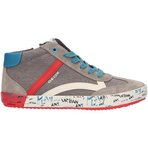 Sapatos Rapaz Sapatilhas de cano-alto Geox J922CG 01022 J ALONISSO Gris