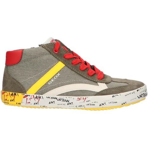 Sapatos Rapaz Sapatilhas de cano-alto Geox J922CG 01022 J ALONISSO Verde