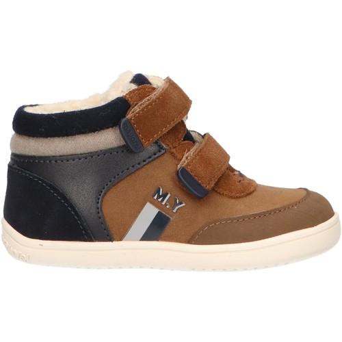 Sapatos Rapaz Sapatilhas de cano-alto Mayoral 42066 Marrón