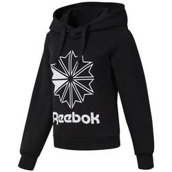 Textil Mulher Sweats Reebok Sport CL FL Big Logo Hood Preto