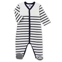 Textil Criança Pijamas / Camisas de dormir Petit Bateau FUT Branco / Azul